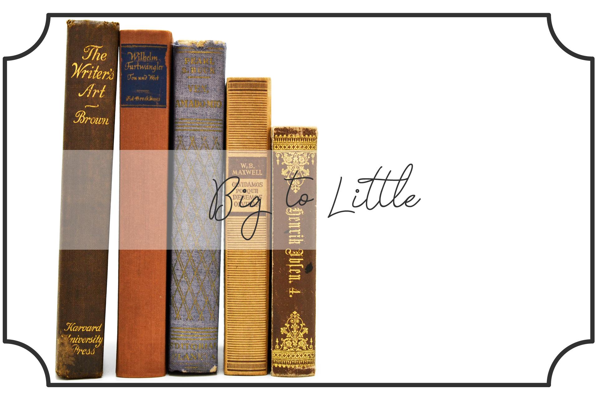 大きい本から小さい本