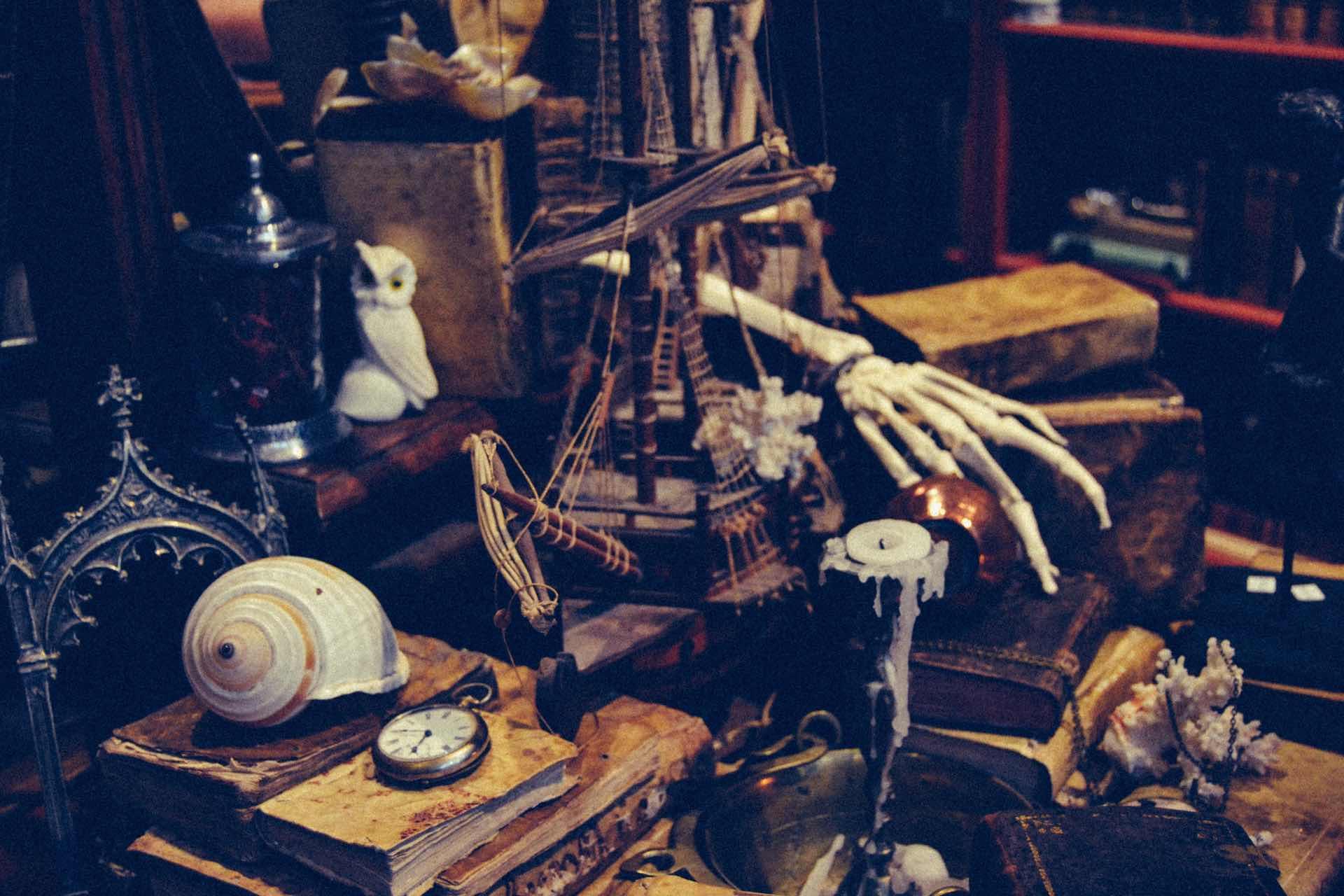 ペルガミーノを飾った海賊船ディスプレイ