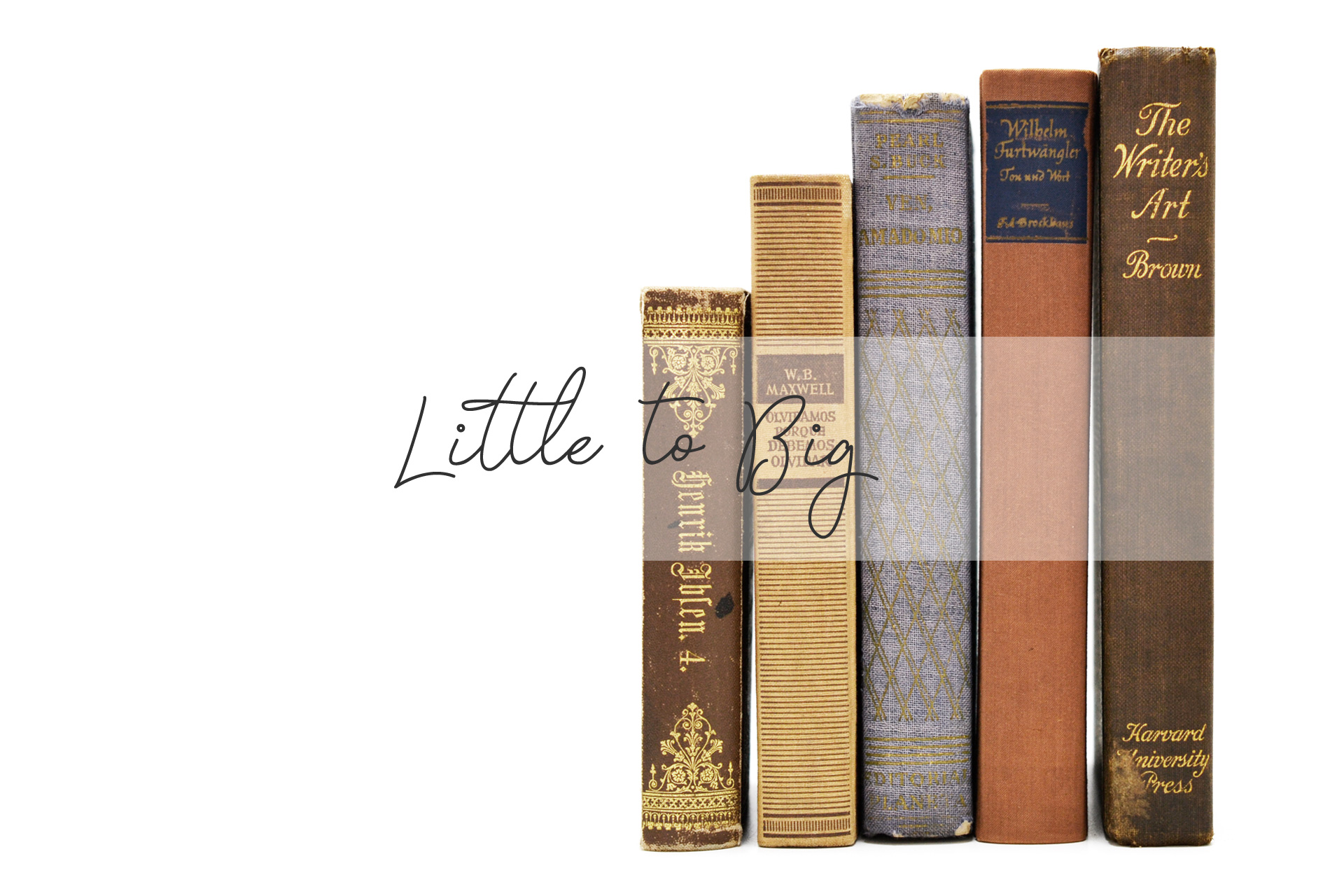 小さい本から大きい本の順に飾る